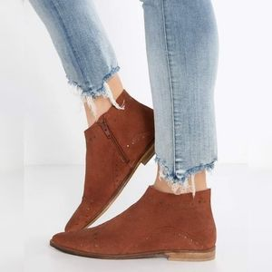 Free People Aquarian Suede Studded Booties